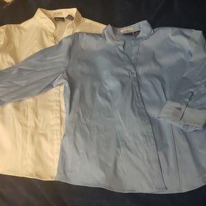 2 DCC Missy Stretch Button Down Shirt Set